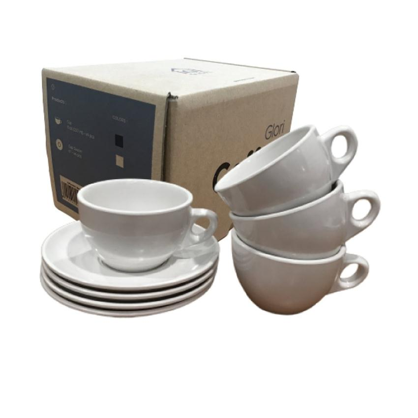 Coffee Set Melamine Putih Glori